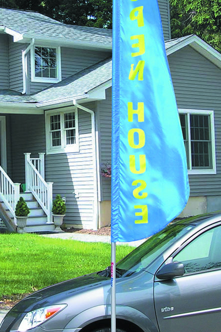Flag Pole Mount - Drive on Wheel Base