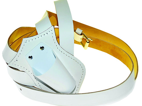 Parade Carrying Belt - Single White Leather