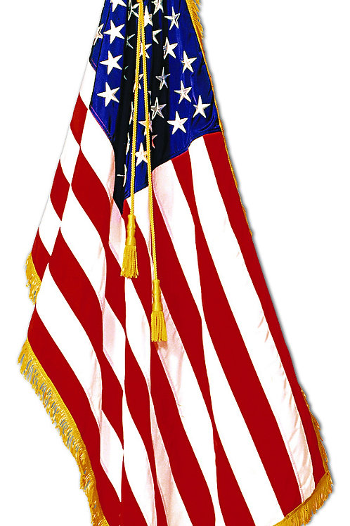 Indoor U.S. - Unfringed Flags Only