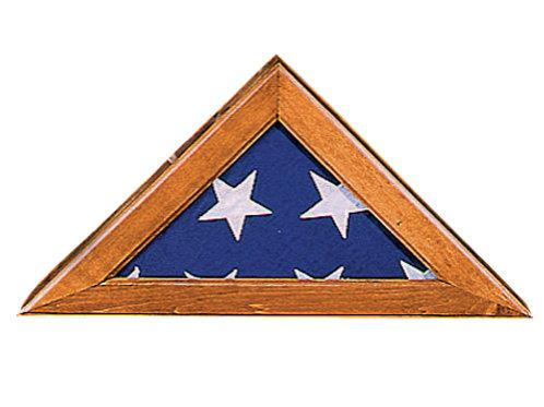 Walnut Finish Flag Case