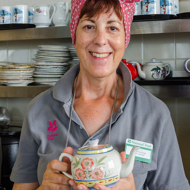 Tea Lady at the Alum Bay Fort, Isle of Wight