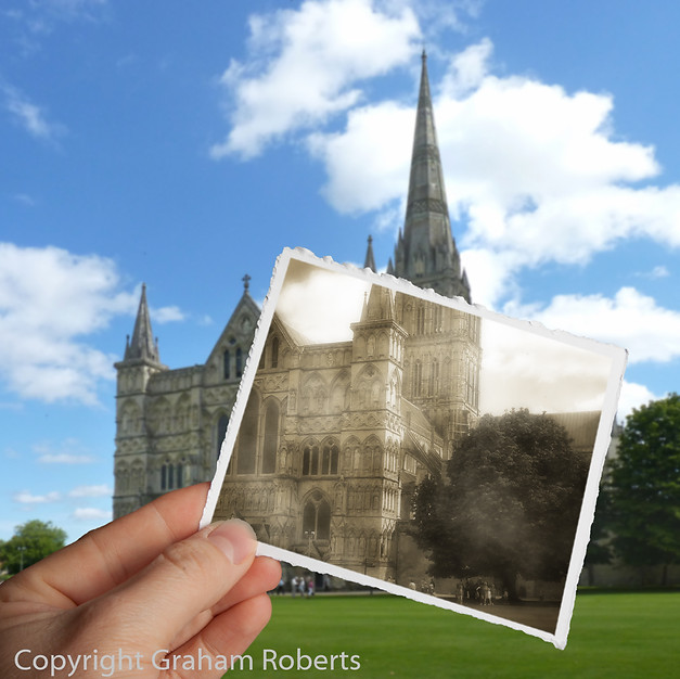 Old Reflections of Salisbury Cathedral