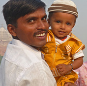 Father and Son at the  Taj