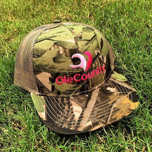 Trucker Hat Camo- light/Dark Pink