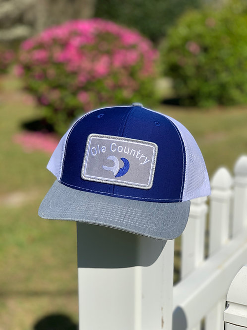 Richardson Hat Royal Blue/White with Grey Bill