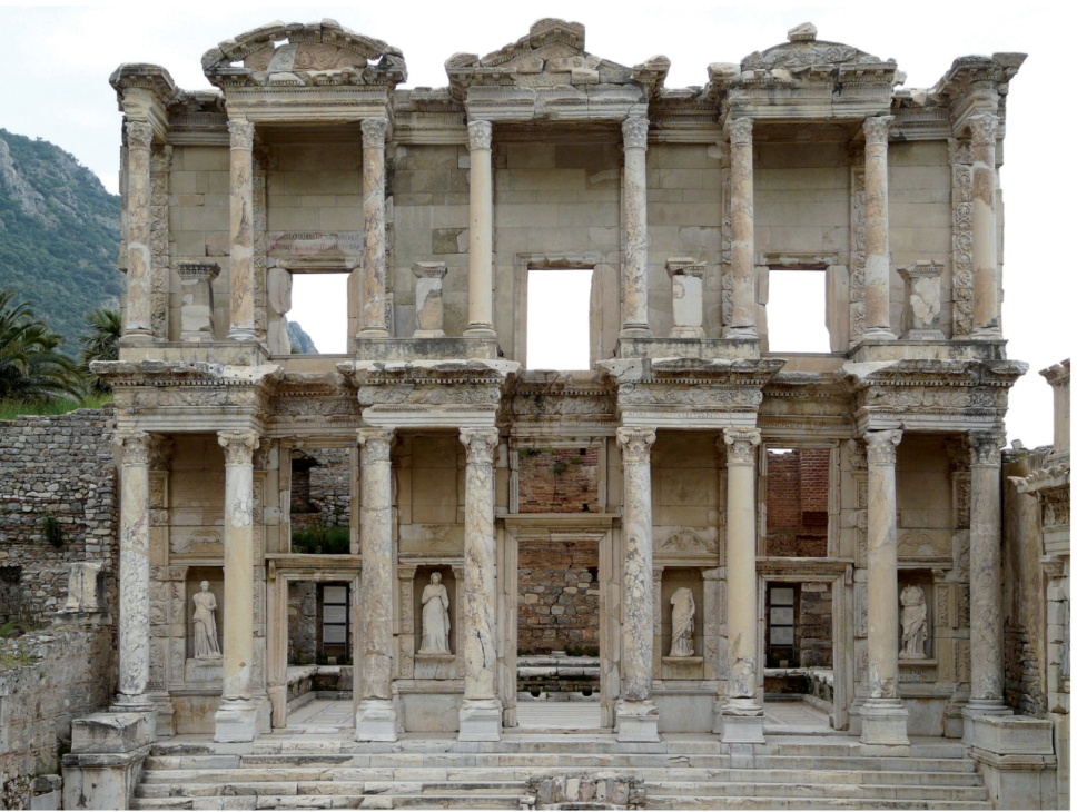 "Finley, Susan. ""Celsus Library of Ephesus: The Man and the City Behind the Famous Façade."" Libri 64, no. 3 (2014): 278. doi: 10.1515/libri-2014-0021."