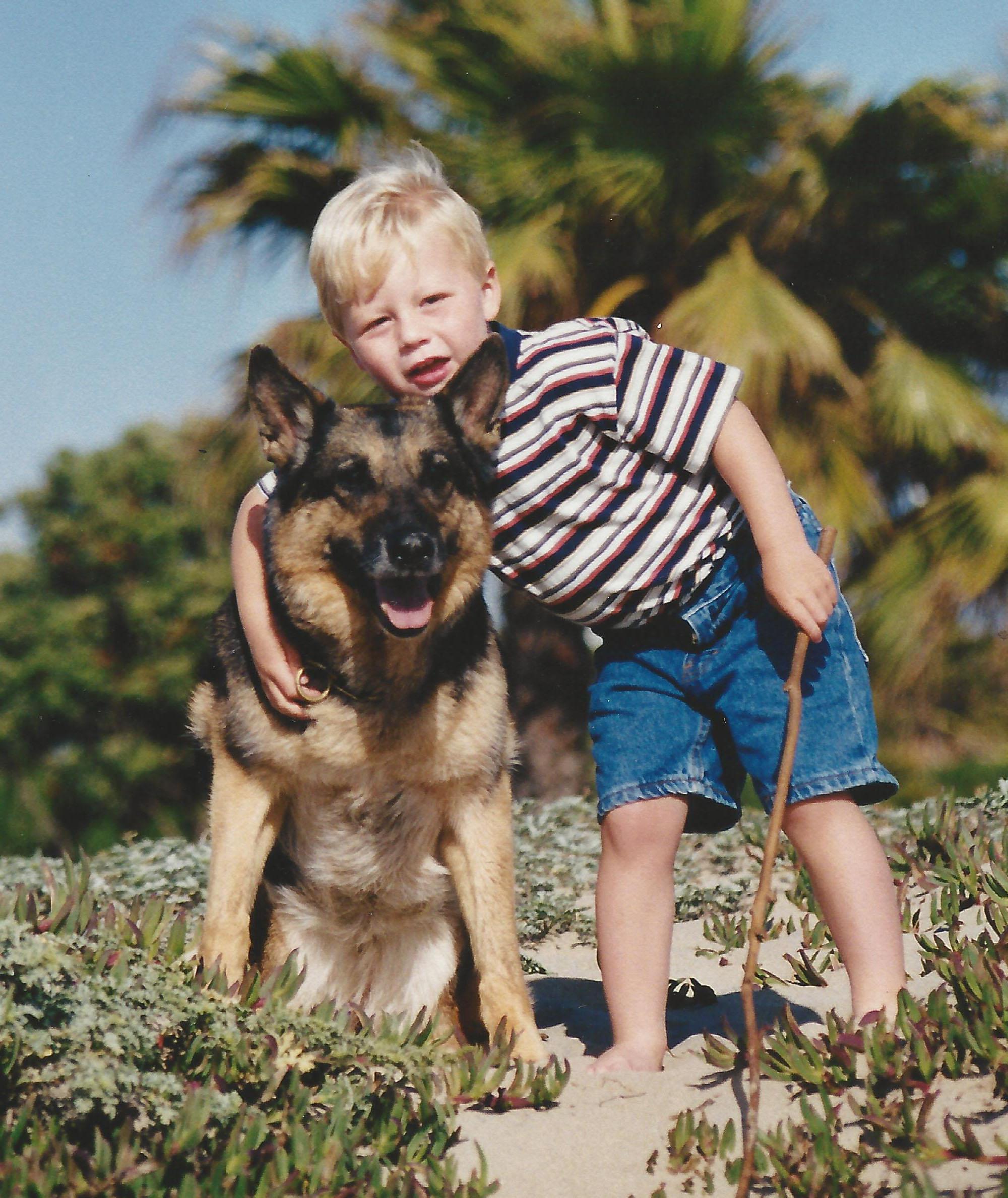 Pascha & Brandon at the beach