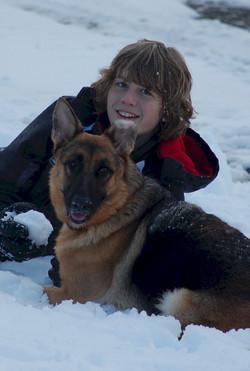 Brandon & Jozie snow