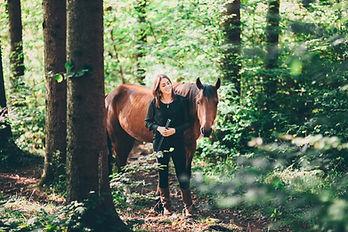 Geländetraining, Vertrauensübung mit Carol Seiler