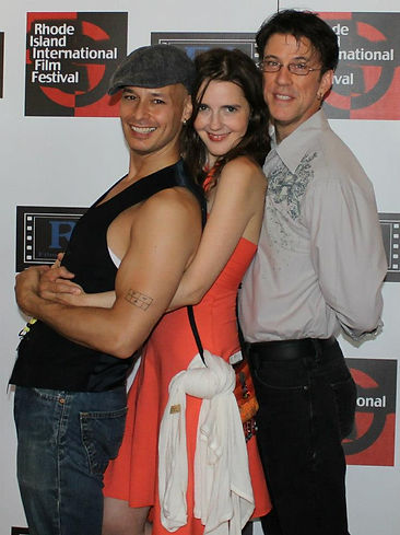 On the Red Carpet with Married & Counting Stars Stephen Mosher & Pat Dwyer at the Rhode Island International Film Festival.