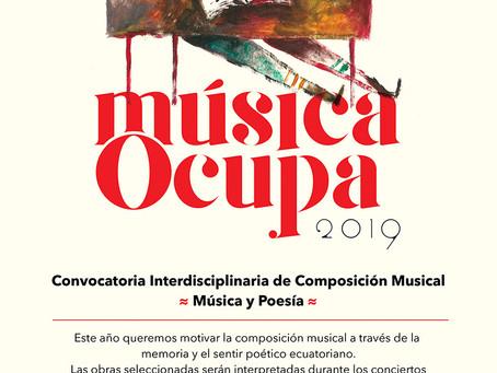 Convocatoria interdisciplinaria decomposición musical - Música Ocupa