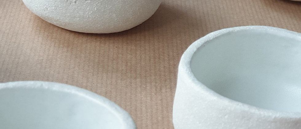 WHITE CERAMIC BOWL/ TEALIGHT HOLDER - ALSO AVAIL AS A SET