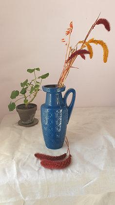 Vintage blue vase by Scheurich, West Germany