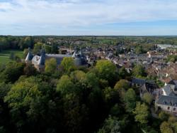 Saint-Fargeau vu d'un drone