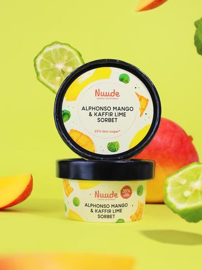 Alphonso Mango & Kaffir Lime sorbet Nuude