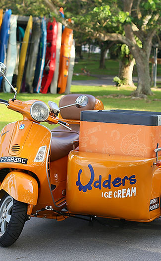 Udders ice cream vespa