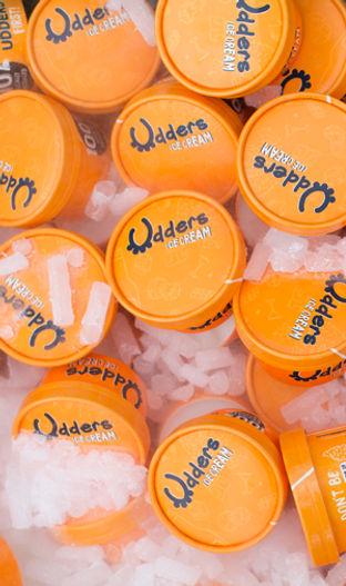 Udders ice cream cups