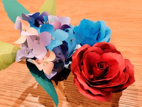これは、、、作ったお花です!