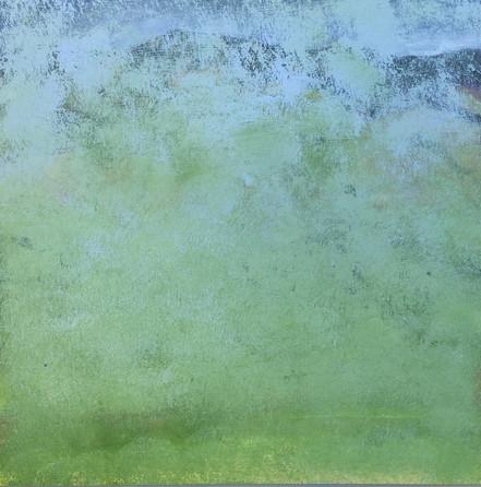 "lost landscape #1, oil on panel, 12"" x 12"""