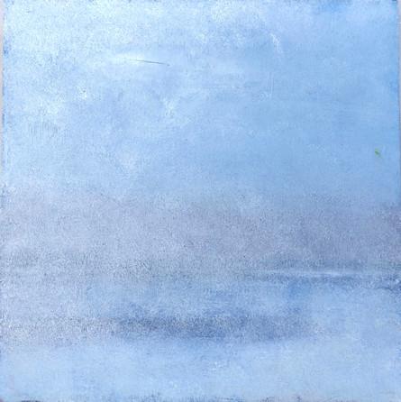 "lost landscape #2, oil on panel, 12"" x 12"""