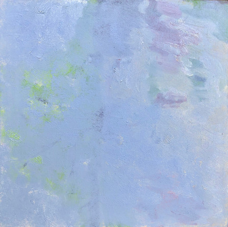 "lost landscape #3, oil on panel, 12"" x 12"""