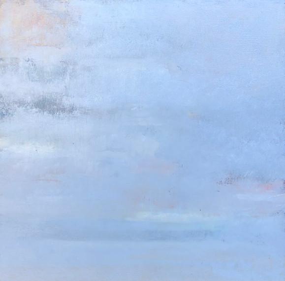 "lost landscape #4, oil on panel, 12"" x 12"""