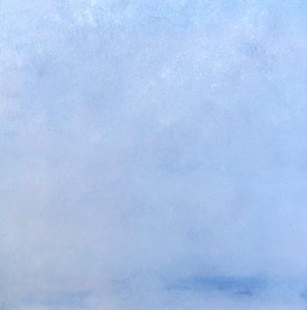"lost landscape #5, oil on panel, 12"" x 12"""
