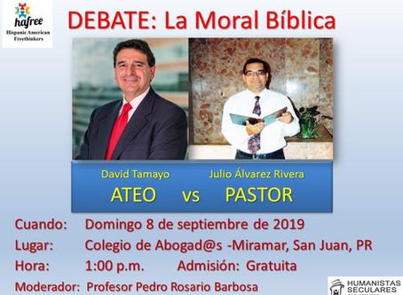 David Tamayo, represented HAFree in the debate: Biblical Morality.