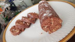 Salame al cioccolato fit senza zucchero senza grassi