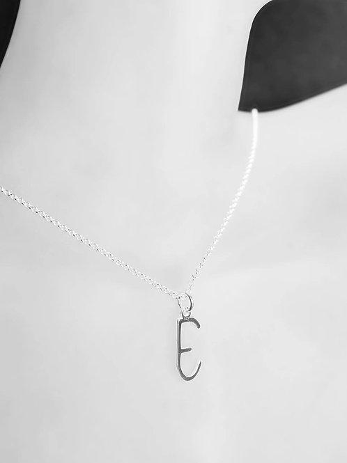 Pendant & chain: Silver Empathy Test 'E'