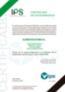 Certificado IPS en A4