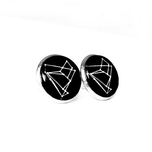 Earrings: Empathy Test Constellation Glass Cabochon Pin