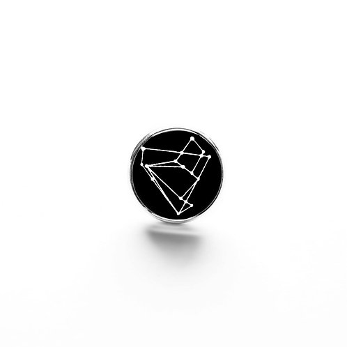 Pin Badge: Empathy Test Constellation Glass Cabochon