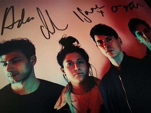 Signed press photo