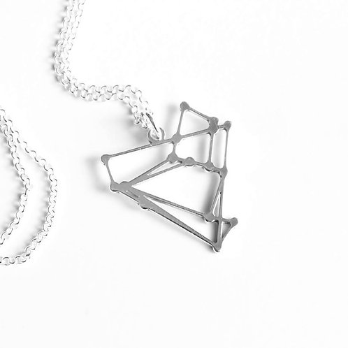 Pendant & Chain: Small Silver Constellation