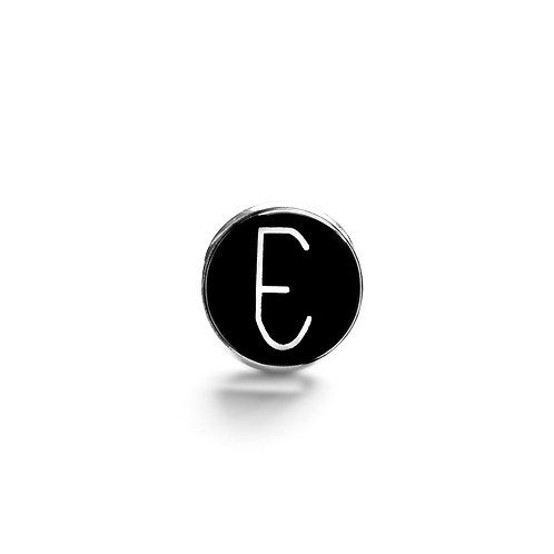 Pin Badge: Empathy Test 'E' Glass Cabochon
