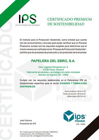 Certificado Premium IPS en A4