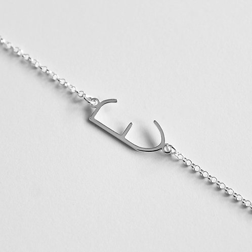 Bracelet: Silver Empathy Test 'E'