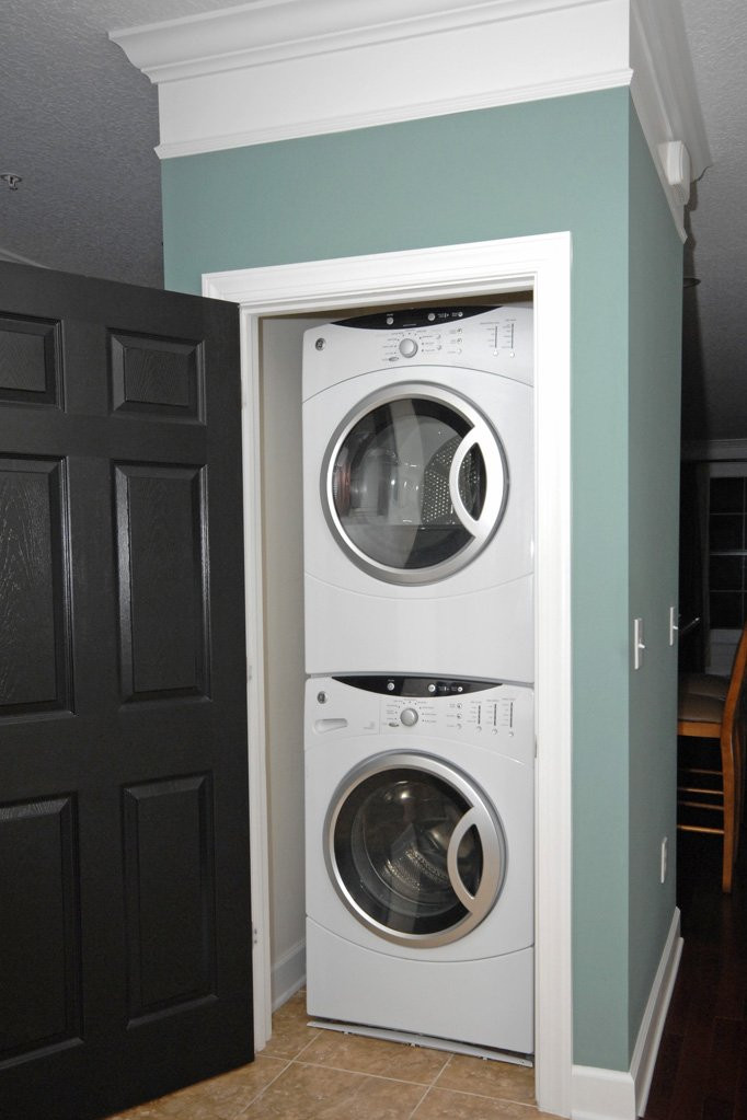 Front Load Washers in closet