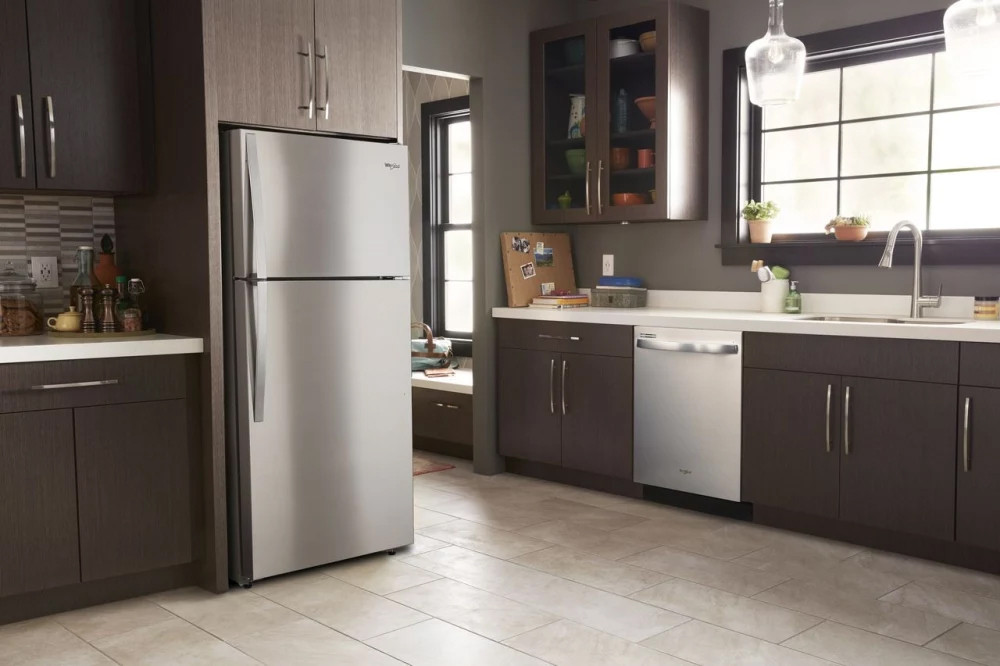 Top Mount Refrigerator Stainless Steel