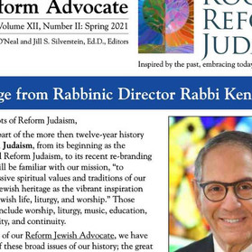 Reform Advocate: Spring 2021 Edition is Now Available