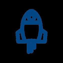 Rocket ship icon