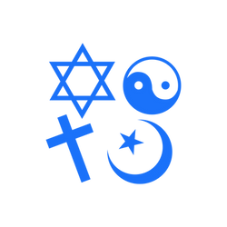 Various religious symbols grouped together