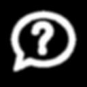 Question mark in a conversation bubble