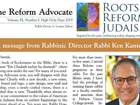Reform Advocate: Fall 2019 Edition is Now Available