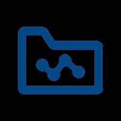 File folder with a timeline image on it