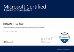 Passed the AZ-900 Azure Cloud Fundamentals Certification Exam with an overall Percentage of 97% at t