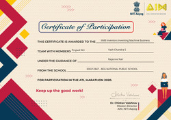 ATL Marathon 2020 Participation Certificate