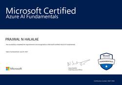 AI-900 Certificate