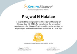 Certified ScrumMaster (CSM) at the age of 14 with a score of 100%